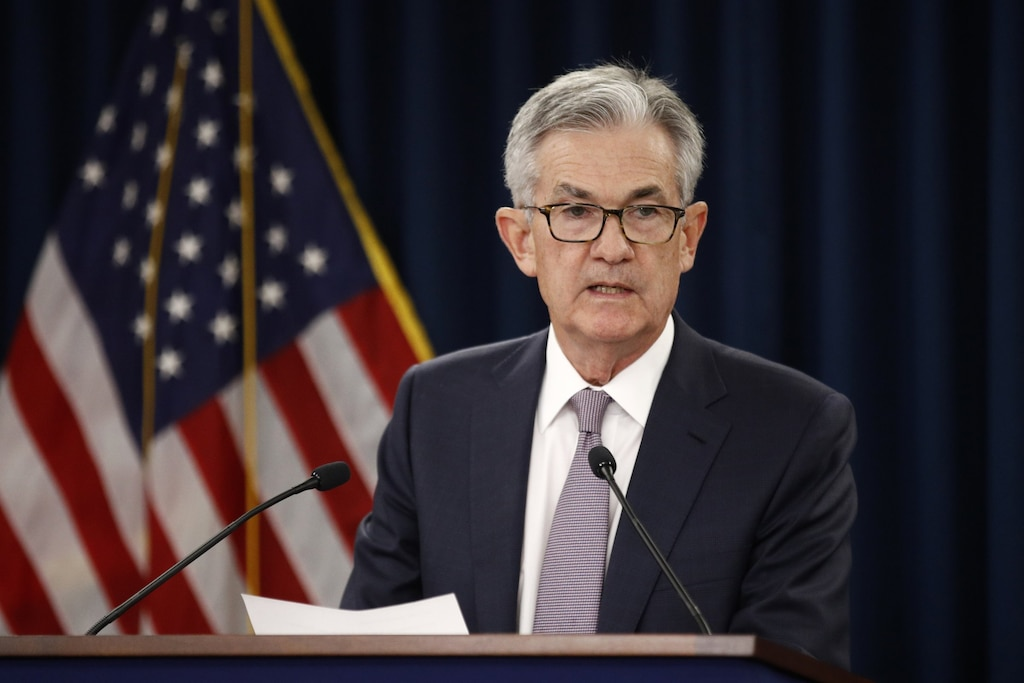 Image result for Federal Reserve Chairman Jerome Powell spoke Tuesday in Denver